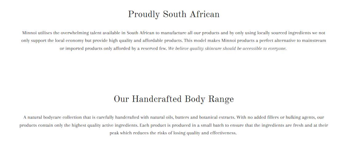 Minnoi brand details